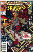 SPIDER-MAN #35 NEWSSTAND VARIANT NM- 1993 MAXIMUM CARNAGE PART 4 VENOM MARVEL