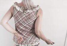Cotton Blend Geometric Sleeveless Blouses for Women