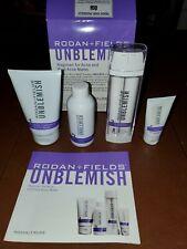 Rodan + Fields Unblemish Adult Acne/Anti Aging Regimen Field Sales Kit - used.