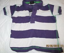 Boys Purple and White Striped Collared Top Age 12-18 Mths Next