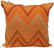"""MISSONI HOME CUSHION COVER 100% COTTON  SATEEN  EMBROIDERED 16x16"""" JAYLIN 591"""