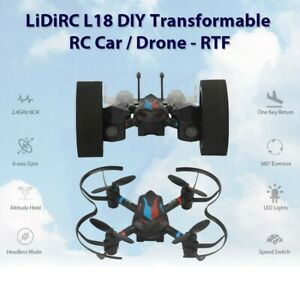 LIDIRC L18 Drone 2.4G 6CH 6-Axis Mini RC Gyro Air Force Aircraft Without Camera
