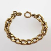 Juicy Couture Matte Gold Tone Link Chain Bracelet 8""