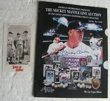 2000 Mickey Mantle Auction Catalog ++ Safe At Home! Videocassette Postcard