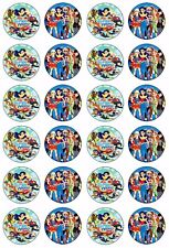 DC SUPER HERO GIRLS Wafer Rice Paper EDIBLE CUPCAKE Toppers SUPERHERO Decoration