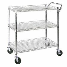 Rolling Utility Cart Tray Food Serving Service Restaurant Kitchen Home Office