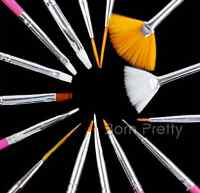 15pcs/set Pink Nail Art Design Brush Dotting Painting Drawing Liner Pen Tools