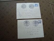FRANCE - 2 enveloppes 1982 (cy16) french