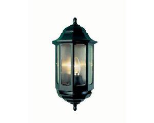 ASD HL/BK060 Half Lantern Wall Light Fitting - Black (FIN865)