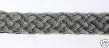 3 metri di cordoncino di cotone, grigio, diametro 4 mm, intrecciato