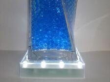 12 LED LIGHT BASES WITH 16 WHITE LIGHTS WEDDING TABLE CENTERPIECE VASE UP LIGHT