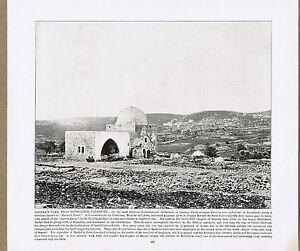 Rachel's Tomb, near Bethlehem, Palestine - 1894 Vintage Historical Print