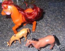 "LOT OF 3  HORSES 1 5X5"" HORSE WITH RED MANE 1  4"" SADLEBRED 1988 1 31/2"" HORSE"