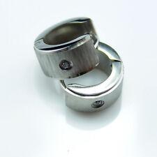 1x Surgical titanium Steel Mens Huggie Hoop Earring  2013 XMAS GIFT