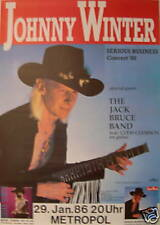 JOHNNY WINTER JACK BRUCE BAND CONCERT TOUR POSTER 1986 SERIOUS BUSINESS
