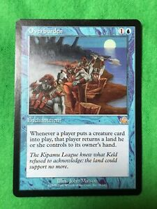 MTG  OVERBURDEN  RARE   NEVER PLAYED  *combine shipping*