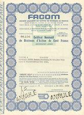 5 acciones de (5x) FACOM SA, Morangis, 1971-1974