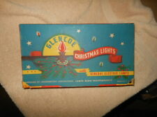 Vintage General Electric Glenco 7 Light Christmas Lighting In Box Antique Xmas