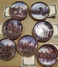 Bradford exchange Gallant Men of the Civil War Set of Seven with Coa's