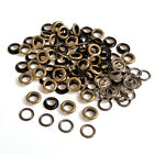 4/5/6/8/10mm x 100 Antique Brass Eyelets Grommets Rings Washers Leather Craft