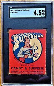 *RARE* SUPERMAN (1940) LEADER NOVELTY COUPON -  SGC GRADED 4.5  (VG/EX+)