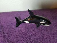 "Ceramic Orca Whale Killer Whale 6in Figure Vintage (""G"" Rollmark/Signature)"