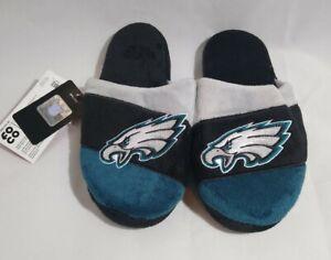 FOCO Youth Medium (3-4) NFL Eagles Slide Slippers Non Slip Bottom NEW