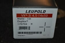 """Leupold VX-3i 4.5-14x50mm Matte 1"""" Duplex (170704)"""