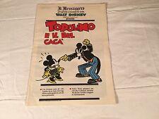 TOPOLINO E IL BEL GAGA' inserto IL MESSAGGERO 29 SETTEMBRE 1989