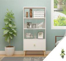 3 Tiers Scandinavian Storage Cabinet Drawers Unit Living Room Bookshelf White UK