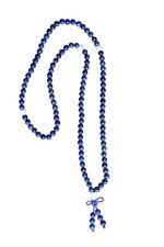 Mala buddhistische Meditationskette 36 cm blau, Lapislazuli - Asien LifeStyle
