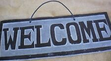Welcome Sign on Hand-carved Slate from Nepal