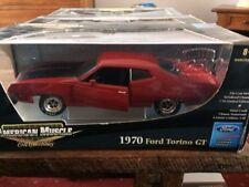 Ertl 1:18 1970 Ford Torino Gt American Muscle Noir Rouge Hemi 33972 MOPAR