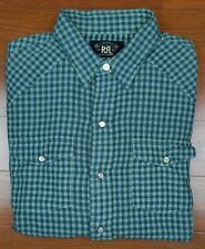 RRL Ralph Lauren Double RL Western Plaids & Checks Snap on Button Casual Shirt M