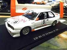 BMW M3 E30 Macau GP 1987 #8 3rd Giroix Hilton 1/300 Spark Res 1:43