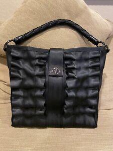 Harveys Seatbelt Black Lola Ruffled Hobo Bag