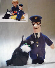 "#R8 POSTMAN PAT DOLL (16"" TALL) & CAT (8"" TALL) DK & MOHAIR Knitting Pattern"