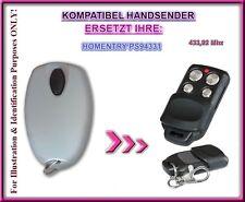 Homentry ps94331 compatible mano transmisor, mando a distancia de repuesto 433,92mhz