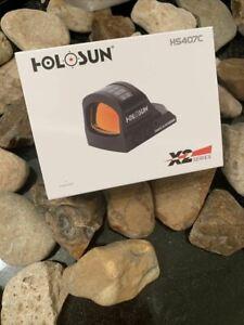 HOLOSUN HS407C X2 Reflex MRS Red Dot 2MOA Dot RMR Footprint