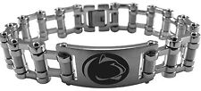 PENN STATE NITTANY LIONS PSU Stainless Steel Bike Chain Bracelet w/Logo NCAA NEW