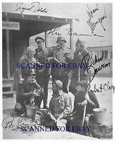 HOGANS HEROES CAST SIGNED AUTOGRAPH 8x10 RPT PHOTO BOB CRANE RICHARD DAWSON +