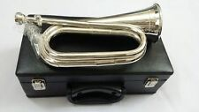 New Professional Silver plated, Tuneable Bugle with Mouthpiece/Bb Tuneable Bugle