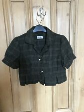 Topshop Check Cropped Jacket Size 10