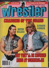 The Wrestler October 1992 The British Bulldog, The Ultimate Warrior VG 020116DBE
