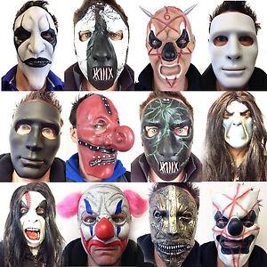 Slipknot Style Masque Mick Gris Fehn Tailleur Clown Halloween Costume Horreur