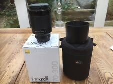Nikon 1 Nikkor VR 70-300mm f/4.5-5.6 Lens boxed  - black including Lowepro case