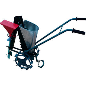 Manual Mechanical Seeder For Bulb Garlic - Onion Tulip Oak + Fertilizer hopper