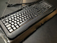 Genuine DELL Alienware USB Keyboard Tastatur German Qwertz Layout JNG43 Boxed