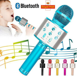 Handheld Wireless Bluetooth Karaoke Microphone USB KTV Player MIC Speaker UK