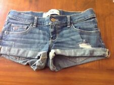 Hollister Denim Low Rise Regular Size Shorts for Women